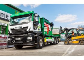 Iveco Stralis Natural Power- The Truck Of Choice For Builders Merchant Lawsons